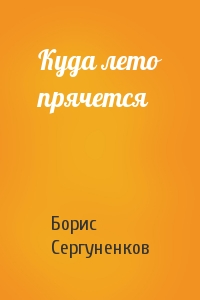 Борис Сергуненков - Куда лето прячется