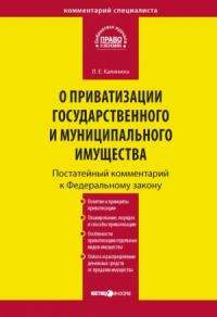 Лариса Калинина - Комментарий к Федеральному закону «О приватизации государственного и муниципального имущества» (постатейный)