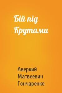 Аверкий Матвеевич Гончаренко - Бій під Крутами