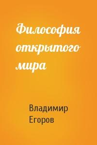 Владимир Егоров - Философия открытого мира